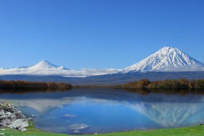 Каряк Вулкан горы озеро