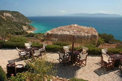 Sesto Koroni Hill Bar Kefalonia island west coast Ionian sea Greece Zakynthos