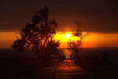 вечер в заливе море вечер закат