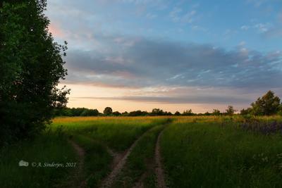 Летний вечер летний пейзаж закат