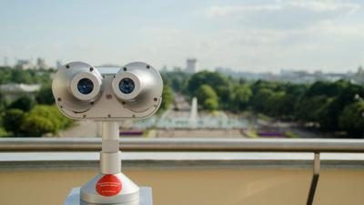 Наблюдение Москва парк горького бинокль панорама смотровая