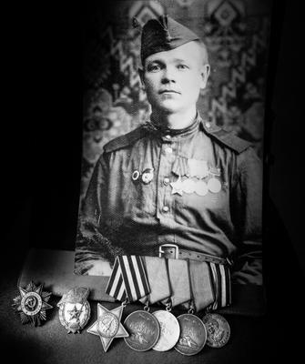 Гвардии старший сержант 1907 года рождения Анатолий Белоногов ВОВ