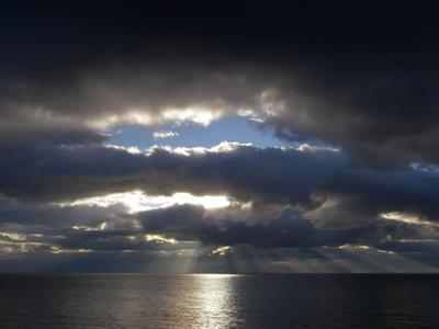 Осеннее небо Гурзуфа пейзаж море небо