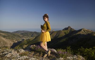 Панагия Крым горы Зеленогорье Панагия Арпат девушка