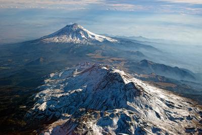 Подлетая к Мехико... Мексика Попокатепетль Истаксиуатль вулкан