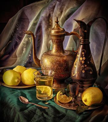 Чай с лимоном, чудное творенье! Чай кувшин индия вода лимон