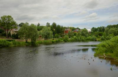 В городе Пскове.