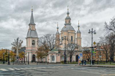 Андреевский собор на Большом пр. ВО реьербург осень васильевский остров андреевский собор