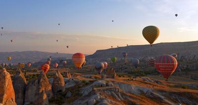 Полеты на рассвете Каппадокия Турция шар