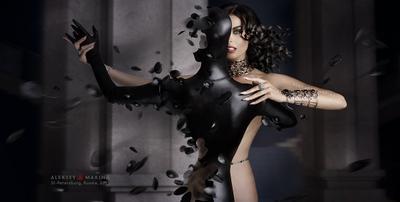Black Magic. Танго. красавица танго вамп магия чёрный зал украшения мода обнаженная фигура колдунья красота роскошь