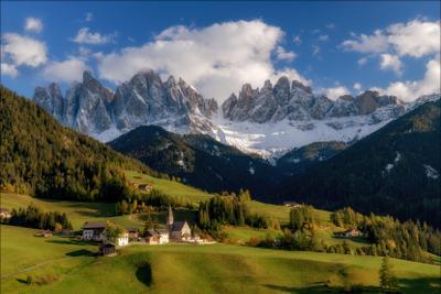 Welcome to paradise доломиты альпы италия alps Santa Maddalena деревня italy осень dolomites свет