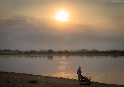 Тихое утро лето утро солнце облака река покой красота пейзаж