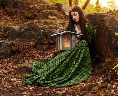Лесная сказка лес природа сказка осень модель девушка
