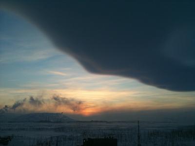 Зимний Норильск Norilsk mir планета природа жизнь небо зима тундра