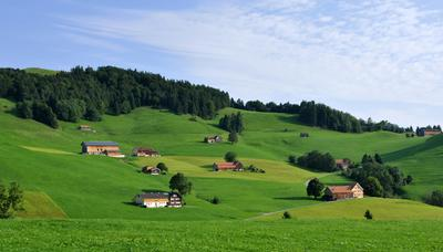 Rolling Countryside Switzerland Appenzell