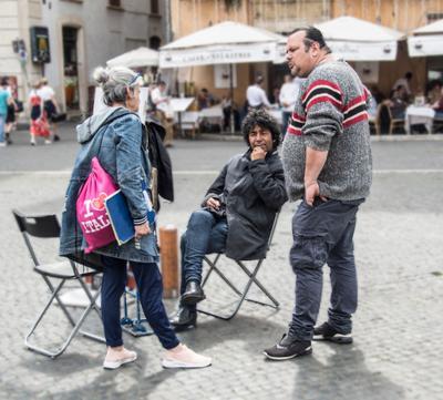 ***На площади Навона(Рим)