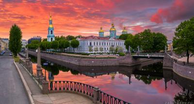 Никольский собор россия петербург город лето рассвет