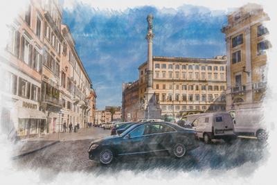 Рим Путешествия Италия Рим акварель
