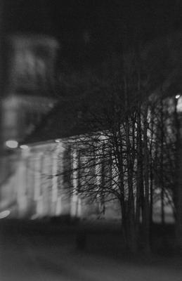 Кафедральный собор ночью Кант, Кафедральный собор, Пикториализм, Пикториальная фотография, Lensbaby, ISO3200