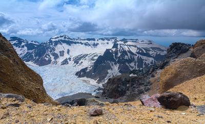 На краю вулкана Китай Вулкан Чанбайшань или Пэктусан по корейски