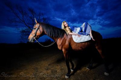 photo horse model photoshoot