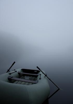 Лодка Карелия лодка озеро туман