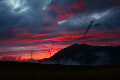 Закат на  плато Лаго-Наки горы закат Адыгея Кавказ