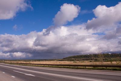 Осень осень облака даль дорога