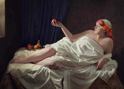 Красные яблоки девушка,портрет,женский портрет,яблоки