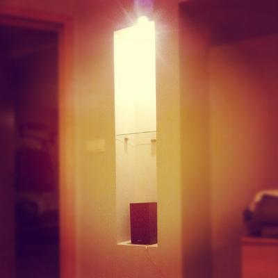 куб в кубе вечер комната лампа