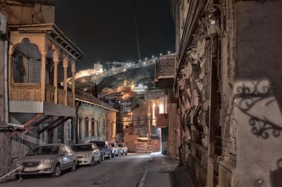 Вечер старого Тбилиси Грузия старый Тбилиси город вечер улица ночь