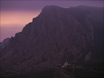 Вечер над Форосом Крым Форос храм вечер церковь