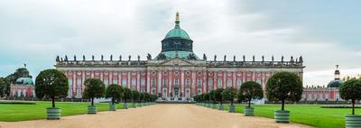 Новый Дворец в Потсдаме Германия дворец Потсдам панорама