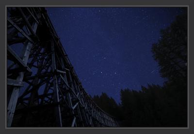 Звездный мост звезды ночь мост