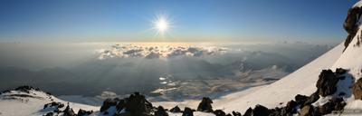 Утро на Эльбрусе Эльбрус горы восход sunrize myprism.ru