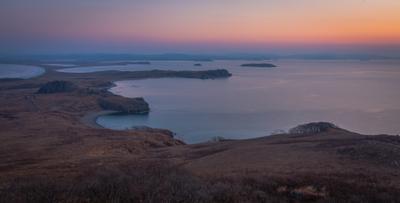 полуостров Краббе рассвет приморье пейзаж природа