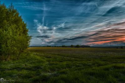 Закат закат лето вечер солнце природа облака зелень