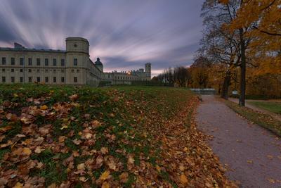 Осенняя меланхолия Гатчина парк дворец осень закат