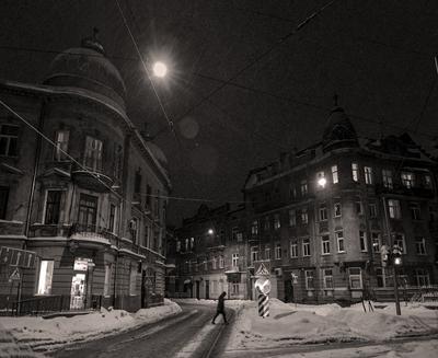 Снегопад город львов