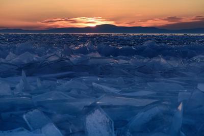 Байкальские торосы байкал пейзаж озеро рассвет торосы