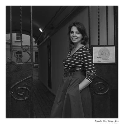 Мария Михайловна портрет плёнка ч б средний формат