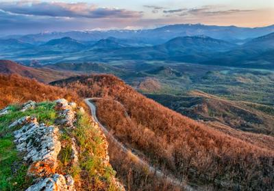 Curves Болгария пейзаж закат