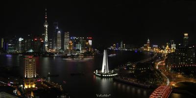 Шанхайские картинки #11 Вечерний красавец небоскреб Шанхай Китай Shanghai China vakomin