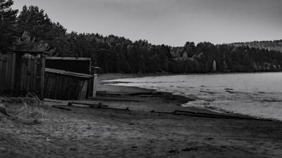 Берег большого северного озера и немного 60-х ..... Карелия Онежское озеро