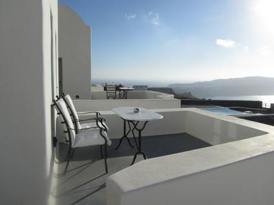 Релаксация море небо гостиница греция