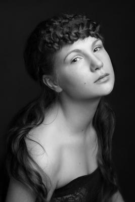 женский портрет девушка, студия, свет
