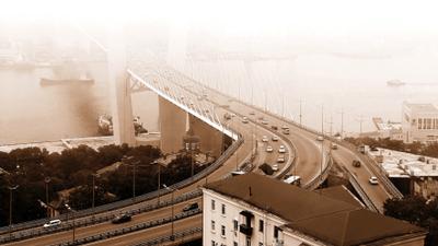 Золотой мост на остров Русский Владивосток