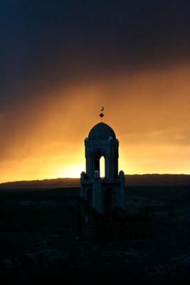 Степная могила могила, степь, Казахстан, мусульмане