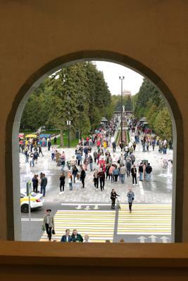 Парк у Северного речного вокзала Речной вокзал аллея