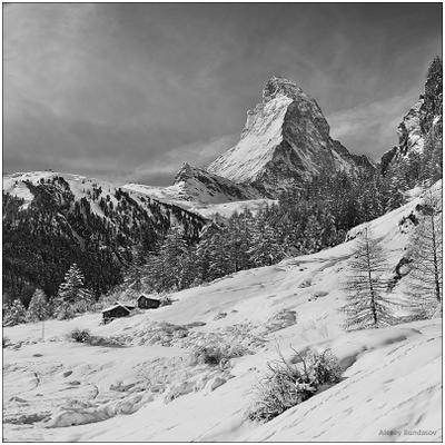 Matterhorn Маттерхорн Церматт горы Альпы
